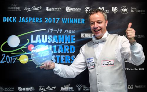 Dick JASPERS wins the Lausanne Billard Master 2017
