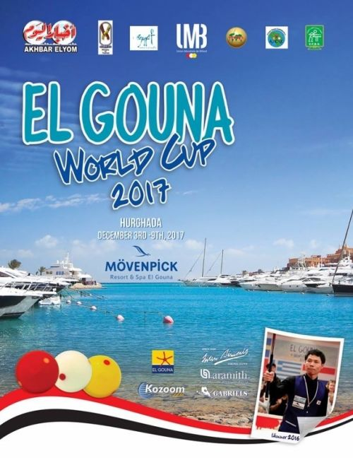 World Cup 3- Cushion – El Gouna December 3 to 9, 2017